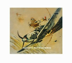 """""""Battle Over Britain"""" Original Signed and Numbered Print by Artist. Giclee"""