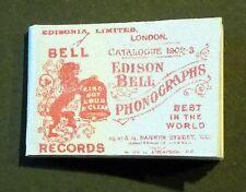 Dollshouse Miniature Book - Edison phonograph catalogue