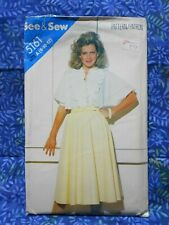 Vintage sewing pattern. BUTTERICK 5161. BLOUSE & SKIRT. Sizes 8 - 10 - 12 UNUSED