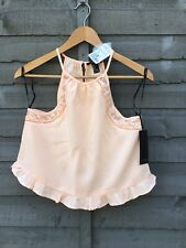 FOREVER 21 PEACH LACE FRILL CAMISOLE TOP. SIZE SMALL. BNWT. PRETTY SUMMER.