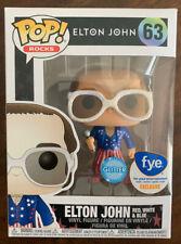 "Funko Pop! (Rocks) ""Elton John� [Red, White, & Blue] #63 [Fye Exclusive]"