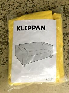 IKEA Klippan Cover Yellow Loveseat Sofa Couch Washable New COVER ONLY Rare
