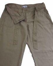 New Womens Beige Linen NEXT Trousers Size 8 Regular LABEL FAULT