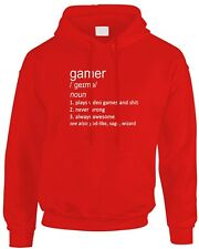 Gamer Lustig Definition Herren Herren Hoody Geschenkidee Job Arbeit Spiele Videospiele PC