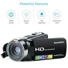 "Camera Camcorders, Ansteker Video Camera HD 1080P 24MP 16X Digital Zoom 2.7"" LCD"