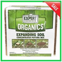 2.25 Cu Ft Expanding Soil Concentrated Coir Potting Mix Garden Hydroponics Plant