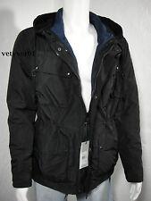 COLE HAAN Lightweight Military Combat Anorak Jacket Detachable Liner Black sz XL