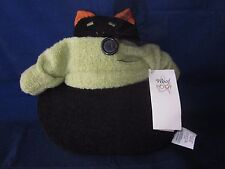 "WOOF & POOF 2004 Musical 10"" Black Cat Pussy Cat I Love You NEW w/ TAG & BUTTON"