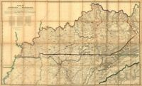Military map of KY and TN c1863 repro 36x24