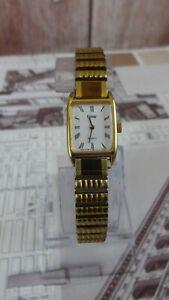vintage pulsar bracelet gold plated ladies watch/stainless steel back Japan di