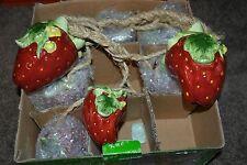 RARE Vintage KMC Item #8552 Ceramic Hanging Strawberry Decoration MINT COND!!!