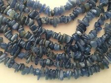 "NATURAL BLUE KYANITE CHIPS BEADS 4X9MM,  16"" LONG"