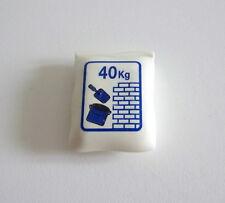 PLAYMOBIL (Q1255) CHANTIER - Grand Sac Blanc de Ciment 40 Kg