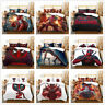 Customized 3D Deadpool Anime Duvet Cover Bedding Set Quilt Cover Pillowcases