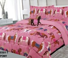 Pony Kids Girls Cute Collection Comforter Set 3 Pcs Twin Size