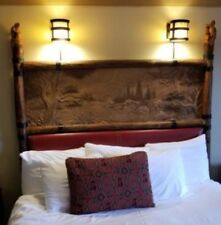Disney's Wilderness Lodge Queen Headboard Guest Room Prop Choice of Anmial Toper