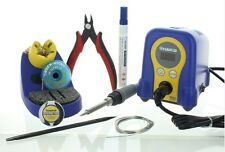 HAKKO soldering station bundle FX888D chp-170 cutter flux wire solder wick more!