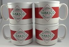 Set of 4 Tabasco McIlhenny Co Coffee Soup Advertising Mugs Cups Bowls by Ddi