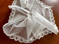 Antico lunghezza BIANCO PIZZO tulle 1.15 M x 13.5cms