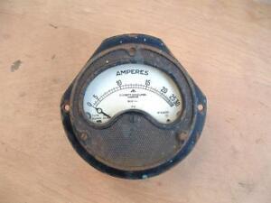 Vintage Everett Edgcumbe London 30 AMP Gauge  Ex-ministry