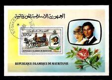 Mauritania 1981 Diana, Royal Wedding, Horse Carriage, Rose S/S  CTO