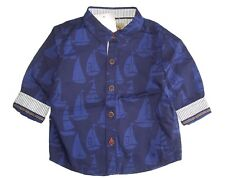 NEXT Baby Boys Shirt Age 6 9 Months Nautical Sailing Boat Smart Party Occasion