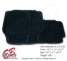 Front and Rear Washable Rubber Floor Mat 4pc Style#B104 for Full Size Vehicle