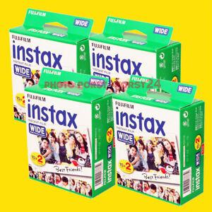 4 x FUJI Instax Wide Film für FUJI Instax 210 Kamera für 80 Aufnahmen :NEU: