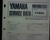 1973-75 Yamaha TY80A, TY80 A Service Data specification booklet, Workshop Manual