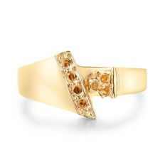 Solid 14K Yellow Gold Round Cut Setting Semi Mount Generous Ring Without Stones