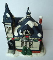 Christmas Victorian Village School House Grandeur Noel 1995 Porcelain