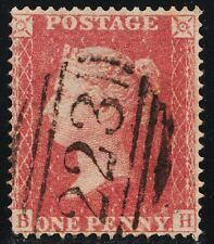 1857 Penny Red SG36 Spec C11 Plate 49 (BH) (Key PLate) with Certificate