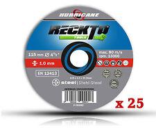 """25 Metallo Acciaio Taglio Disco 115mm x 1mm Smerigliatrice Angolare Dischi 4 1/2"""" Ultra Sottile"""