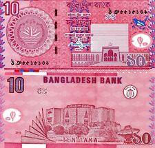 Bangladesh 10 Taka Banknote World Paper Money Unc Currency Pick p47c 2010 Bill