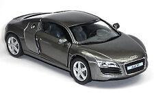 NEU: Audi R8 Sportwagen Sammlermodell 1:36 grau metallic Neuware von KINSMART