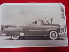 1951 CHEVROLET CONVERTIBLE   11 X 17  PHOTO  PICTURE