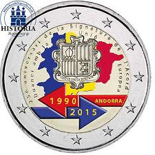 Andorra 2 Euro 2015 stgl 25 Jahre Zollunion mit der EU in Münzkapsel in Farbe