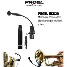 PROEL HCS20 microfono professionale condensatore polarizzato x strumenti a fiato