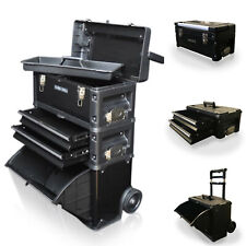 317 US PRO outils noir mobile rolling poitrine chariot panier cabinet roues tool box