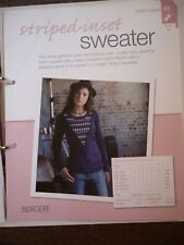 Striped-Inset Sweater Knitting Pattern from Bergere de France Magazine