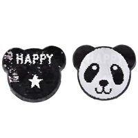 panda reversible change color sequins sew on patches for clothes diy crafts TB