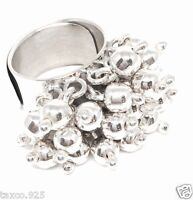 TAXCO MEXICAN 925 STERLING SILVER ADJUSTABLE DECO BEADED BEAD RING MEXICO