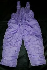 12 Months Hawke & Co Baby Girls Purple Adjustable Snow Bibs Coveralls