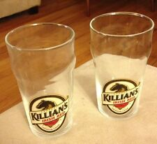 NEW - 2 GEORGE KILLIAN'S IRISH RED PREMIUM LAGER, BOTTOM ETCHED PUB PINT GLASSES