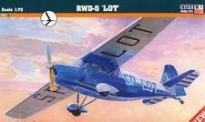 """RWD 5 """"LOT"""" (POLISH AIRLINES MARKINGS)  1/72 MISTERCRAFT (pzl)"""