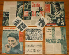 JACQUES CHARRIER spanish clippings Fotogramas magazine photos brigitte bardot