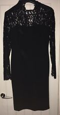 TWIGGY FOR MARKS & SPENCER BLACK LACE DRESS UK 14 JJ