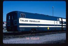 Original Slide Spain: RENFE Talgo Pendular Car RT412 On MBTA Boston In 1988