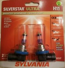 Sylvania SilverStar Ultra H11 Dual Pack Halogen Headlights.. Brand New/Sealed!