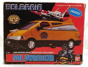 1991 Bandai Metal Hero SUPER RESCUE SOLBRAIN SOL DWRECKER Van ULTRA RARE & VHTF!